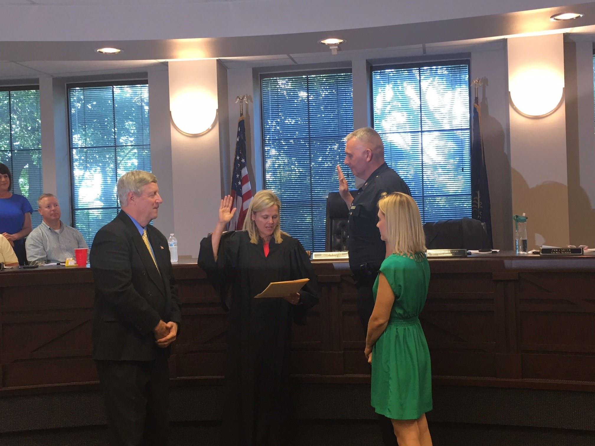 Swearing in of Ch. Gentry